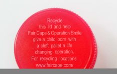 Recycle your bottle caps and give a child a smile