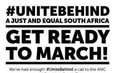 #UniteBehind gets ready to march against President Jacob Zuma