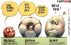 [CARTOON] Proteas, Bafana 'Crushed their Balls'!