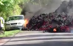 Chaotic scenes as lava continues to spew from Hawaii's Kilauea volcano