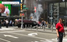 Car smashes into pedestrians in New York's Times Square