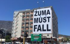 #ZumaMustFall protest resurfaces in Cape Town, as a banner