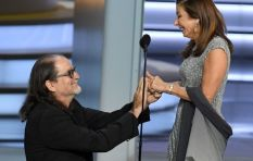 [WATCH] Dad stops baby from crying, Emmy acceptance speech turns into proposal
