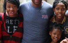 Xolani Gwala visits Tshwane Home of Hope