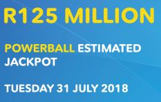 PowerBall rolls over again, this time to R125 million