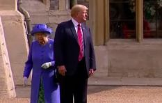 [WATCH] Donald Trump breaks royal etiquette, walks in front of Queen Elizabeth