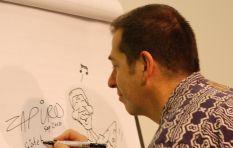 Zapiro takes on critic Eusebius McKaiser over organ grinder monkey cartoon