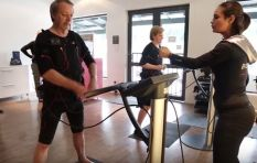 John Maytham gets a workout in a BodyTec suit