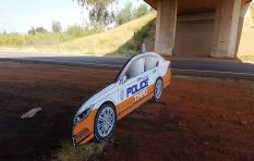 Cardboard cut-out cop cars part of Easter campaign, startle motorists