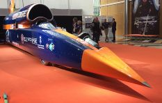 John Robbie visits the super sonic Bloodhound
