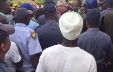 Tense stand-off between students and police at UCT