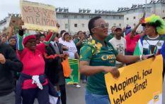 [WATCH] Jubilant Langa residents welcome Bok squad