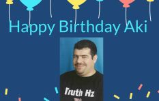 The Greek geek was born today - Happy birthday Aki Anastasiou