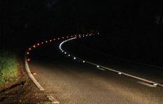 New cat's eyes (retro-reflective road markings) on Ou Kaapse Weg