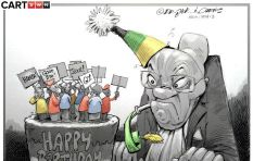 [Cartoon] The party poopers