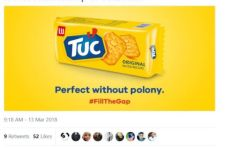 Ad expert slams TUC biscuits for 'perfect without polony' tweet