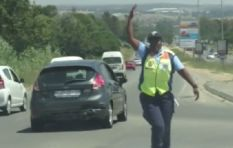 [WATCH] Jhb cop's slick dance moves bring a smile to morning traffic goers