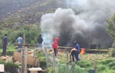 Kleinmond demonstrators occupy sections of land, set alight vegetation