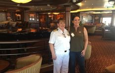 Meet Captain Inger Klein, the female captain behind Queen Elizabeth ship's wheel
