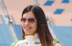 American female racing driver in town to promote environmental documentary