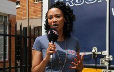 Azania Mosaka visits Bienvenu Shelter