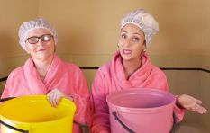 Suzelle DIY drops by at Helen Zille's home for a shower and water-saving tips