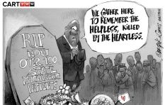 [Cartoon] A grave situation