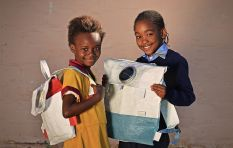 Turning plastic bags into solar powered school bags