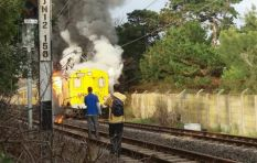 Train fire survivor believes petrol bomb was throw through carriage window