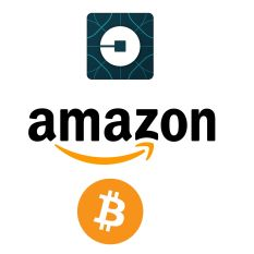 Update: Amazon gets wider, Uber gets a flat and Bitcoin is losing currency