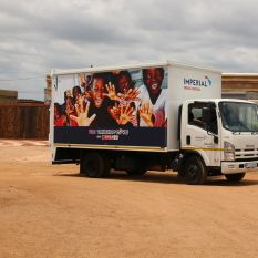 702 Truck of Love with Spar visits Winterveld