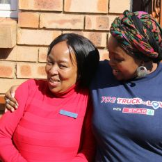 Joy and gratitude as Relebogile visits Tshepong Center