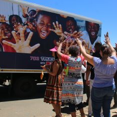 702 Truck of Love with Spar visits Ennerdale