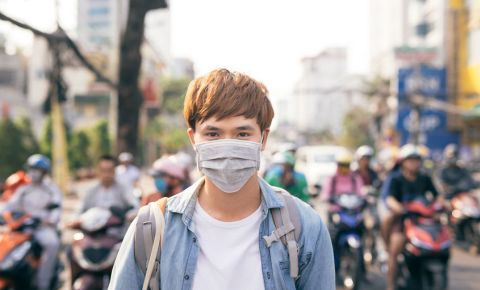 Young man wearing protective mask health virus 123rflifestyle 123rf