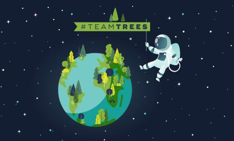 Team Trees fundraising YouTube