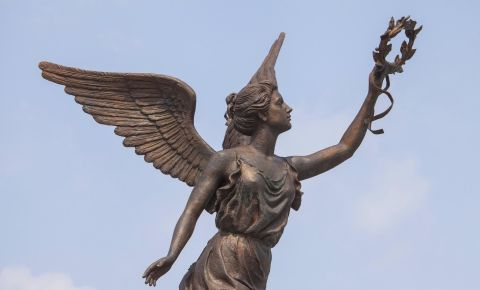 Goddess of victory Nike in Kharkov 123rf