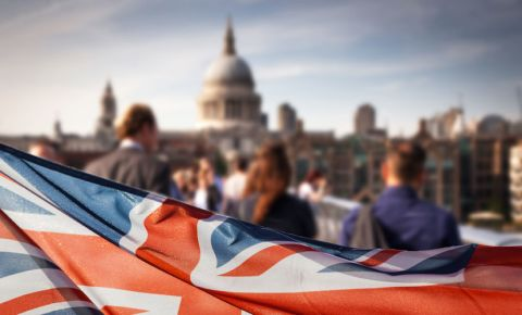 general-elections-London-UK-Flag-St Paul's cathedral-123rf