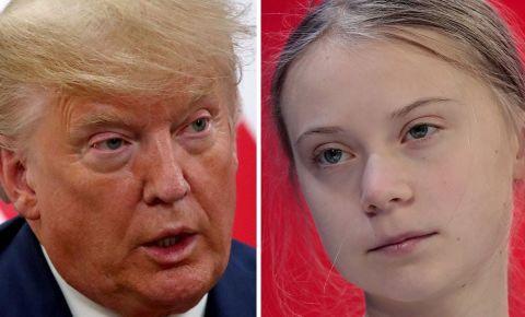 Donald Trump Greta Thunberg World Economic Forum Davos