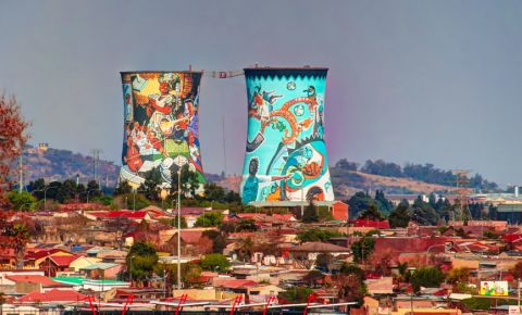 Soweto former powerplant, cooling tower 123rflifestyle 123rf