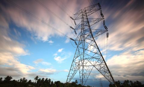 Pylons, electricity, load shedding