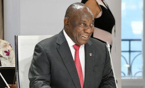 Cyril Ramaphosa grinning smiling