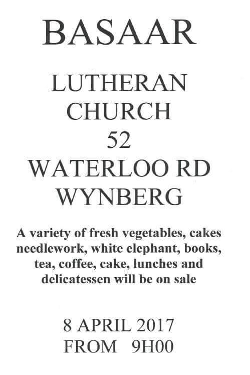 Lutheran Church Bazaar