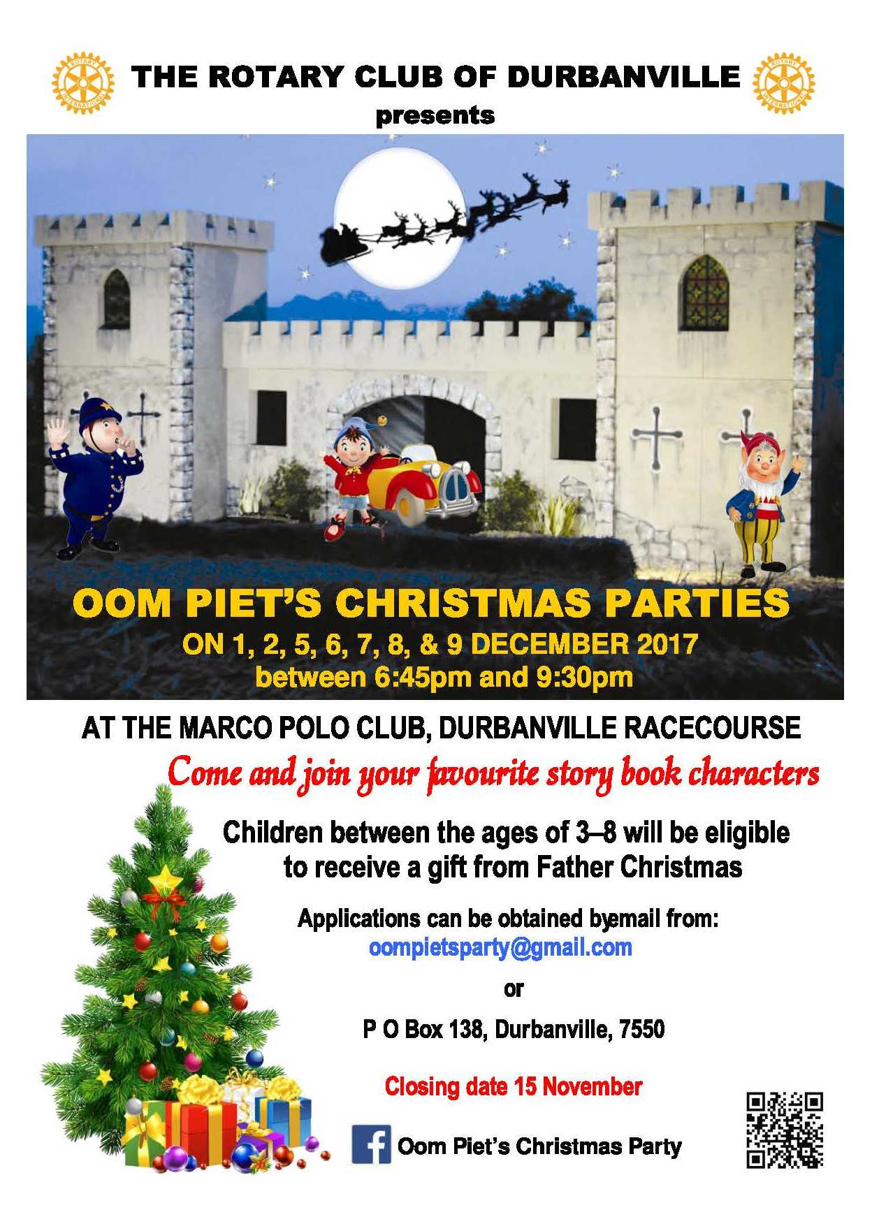 Oom Pie'ts Christmas Parties