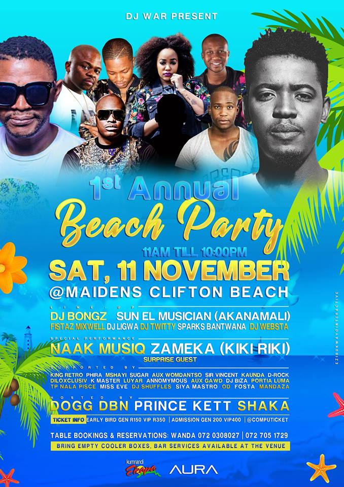 1st annual beach party
