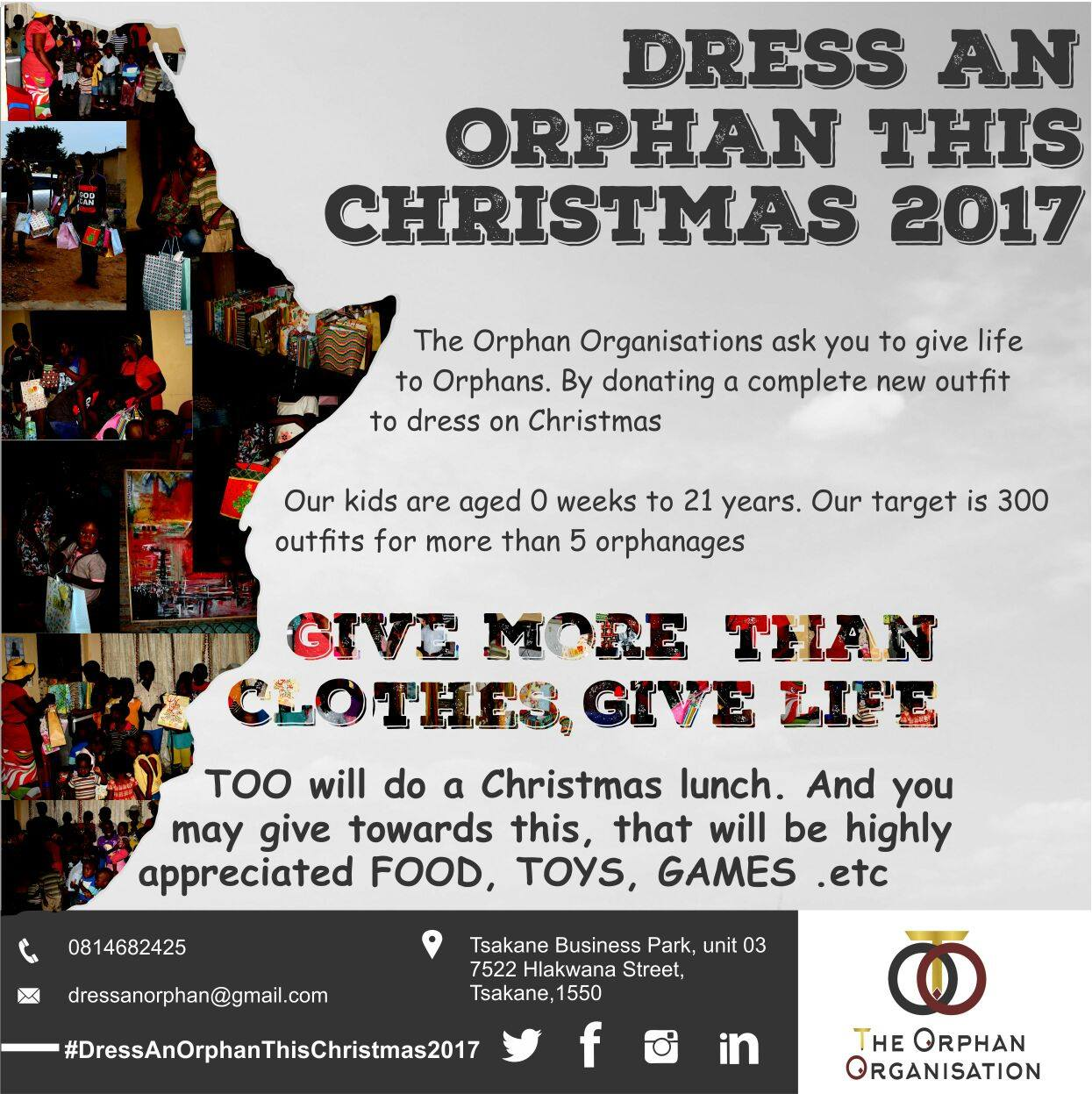 Change an orphan's holiday with #DressAnOrphanThisChristmas