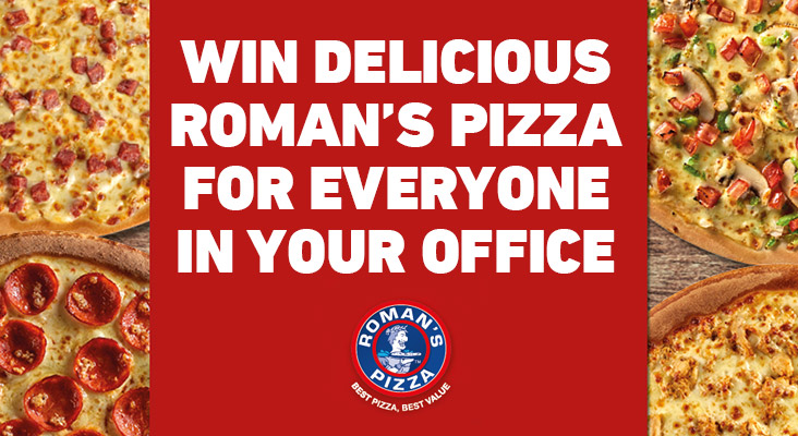 Win with Kfm 94.5 & Roman's Pizza
