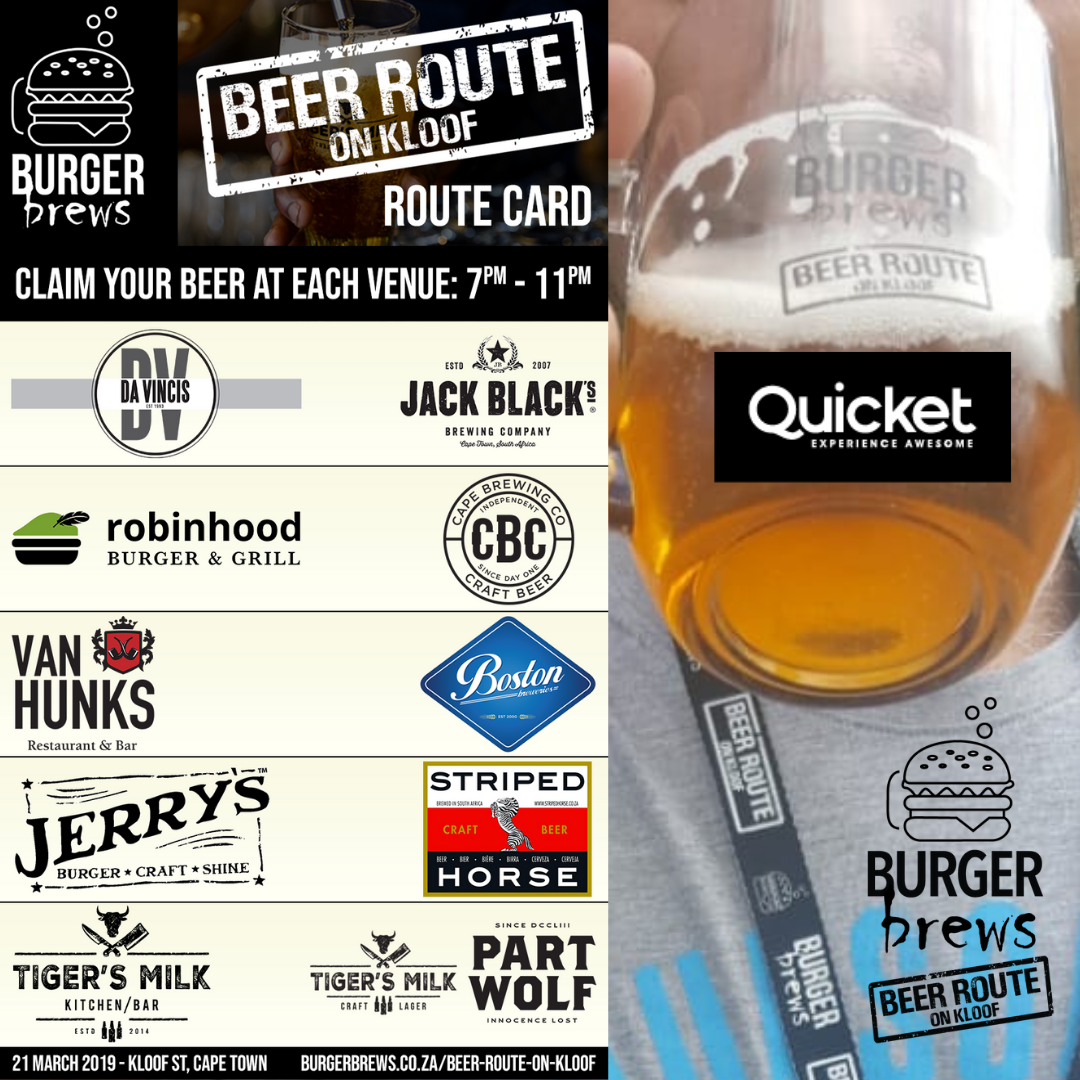 Burger Brews Beer Route on Kloof