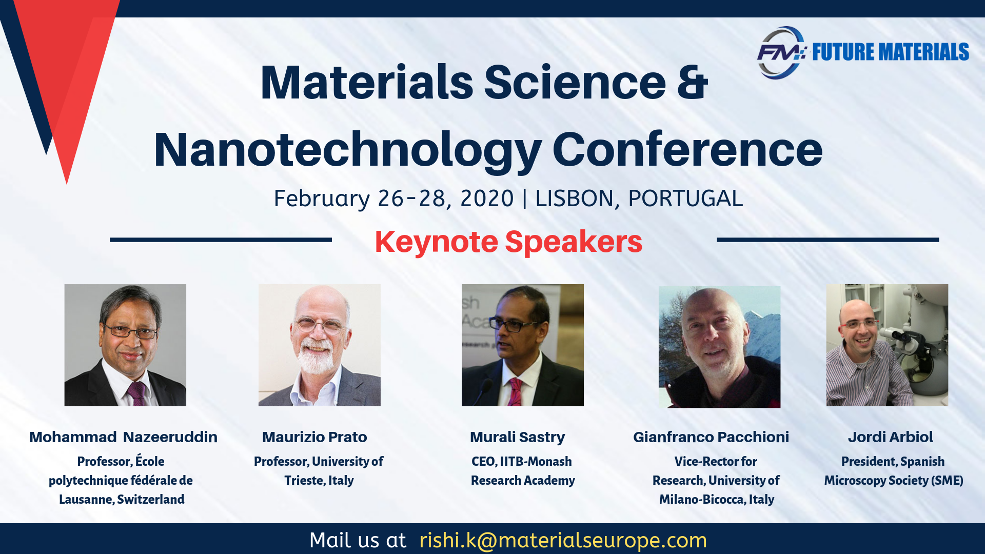 Materials Science & Nanotechnology Conference
