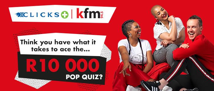 Win big with the Clicks Pop Quiz on Kfm Mornings!