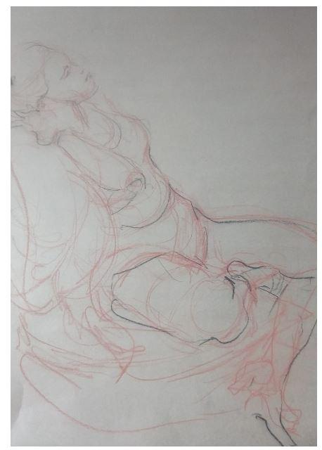 Saturday Life Drawing Classes:  By Leonie Sam Mackenzie
